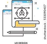 ux design vector icon