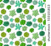 seamless pattern with succulents | Shutterstock .eps vector #533101813