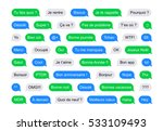 sms bubbles short messages in... | Shutterstock .eps vector #533109493