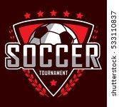 soccer logo  america logo ... | Shutterstock .eps vector #533110837