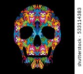day of the dead psychedelic... | Shutterstock .eps vector #533114383