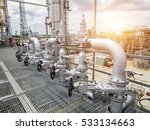 refinery oil and gas industry | Shutterstock . vector #533134663