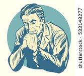 retro man praying  religion and ... | Shutterstock .eps vector #533148277