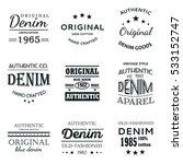 classical denim jeans... | Shutterstock .eps vector #533152747