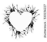 watercolor heart on white... | Shutterstock . vector #533156227