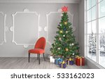 christmas tree with decorations ... | Shutterstock . vector #533162023