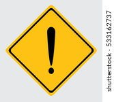 danger sign | Shutterstock .eps vector #533162737
