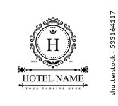 luxury logo template in vector... | Shutterstock .eps vector #533164117