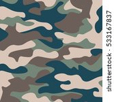 camouflage pattern background.... | Shutterstock .eps vector #533167837