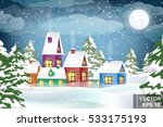 winter landscape. christmas... | Shutterstock .eps vector #533175193