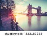 View Of Tower Bridge At Sunris...