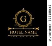 luxury logo template in vector... | Shutterstock .eps vector #533188663