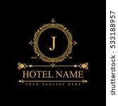 luxury logo template in vector... | Shutterstock .eps vector #533188957