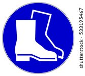 wear safety footwear.... | Shutterstock .eps vector #533195467