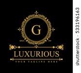 luxury logo template in vector... | Shutterstock .eps vector #533196163