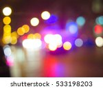 blurred police car on the... | Shutterstock . vector #533198203
