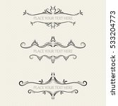 vector set of ornate frames | Shutterstock .eps vector #533204773