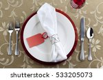 festive holiday dinner place... | Shutterstock . vector #533205073