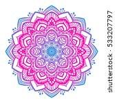 vector beautiful mandala.... | Shutterstock .eps vector #533207797