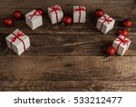 christmas background with gifts.... | Shutterstock . vector #533212477