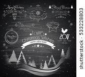 christmas vector design... | Shutterstock .eps vector #533228803