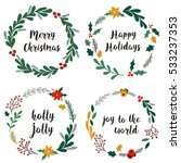 collection of hand drawn... | Shutterstock .eps vector #533237353
