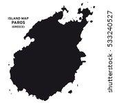 island map of paros  greece  | Shutterstock .eps vector #533240527