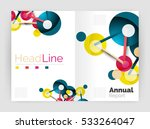 geometric molecule abstract... | Shutterstock .eps vector #533264047