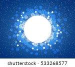 celebratory dark blue winter...   Shutterstock .eps vector #533268577