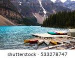 canoe at moraine lake | Shutterstock . vector #533278747