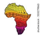 textured vector map of africa.... | Shutterstock .eps vector #533279863