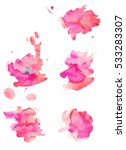 colorful abstract watercolor... | Shutterstock .eps vector #533283307
