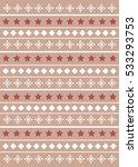 christmas pattern  | Shutterstock .eps vector #533293753