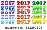 2017 bright inscriptions in... | Shutterstock .eps vector #533297803