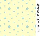 star seamless pattern. cute... | Shutterstock .eps vector #533301487
