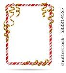 blank christmas border  candy... | Shutterstock .eps vector #533314537