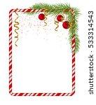 blank christmas border  candy... | Shutterstock .eps vector #533314543