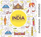 country india travel vacation... | Shutterstock .eps vector #533318563