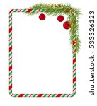 blank christmas border  candy... | Shutterstock .eps vector #533326123
