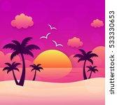 Summer Holiday Sunset Beach...