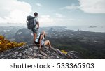 couple of tourist with... | Shutterstock . vector #533365903