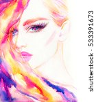 fashion illustration. abstract... | Shutterstock . vector #533391673