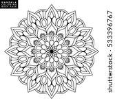 flower mandala. vintage... | Shutterstock .eps vector #533396767