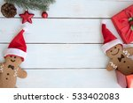 christmas background with santa ... | Shutterstock . vector #533402083
