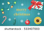 merry christmas and happy new... | Shutterstock .eps vector #533407003