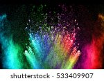 abstract color powder explosion ... | Shutterstock . vector #533409907