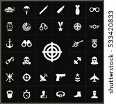 target icon. army icons... | Shutterstock . vector #533420833