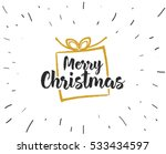 merry christmas text design.... | Shutterstock .eps vector #533434597