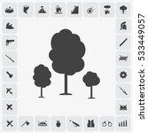 gray three trees icon... | Shutterstock .eps vector #533449057