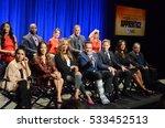 los angeles   dec 9   cast at... | Shutterstock . vector #533452513